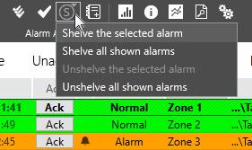 Shelve all Selected Alarms in Cloud SCADA Platform